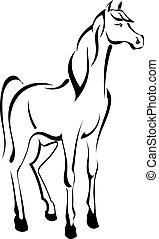 לעמוד, קיעקוע, סוס