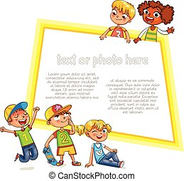 לפרסם, דפוסית, brochure., מוכן, מסר, שלך