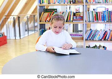 לקרוא, ספריה, ילד