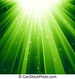 לרדת, אור, קסם, כוכבים, קורות