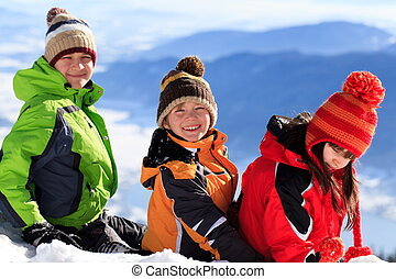 לשבת, השלג, ילדים
