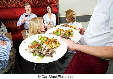 לשרת, ארוחת ערב