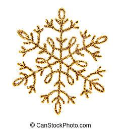 מבריק, פתיתת שלג, זהב