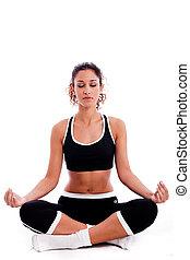 מדיטציה, אישה, כושר גופני