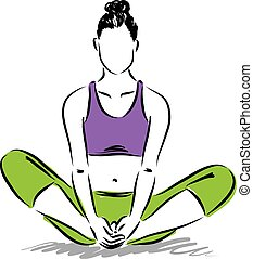 מדיטציה, מעמד גוף, יוגה, illustratio