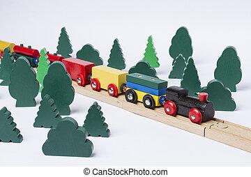 מהיר, אלף, לנהוג, דרך, קטן, יער