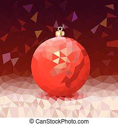 מואר, כדור, משולש, חג המולד, רקע