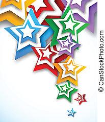 מואר, רקע, כוכבים