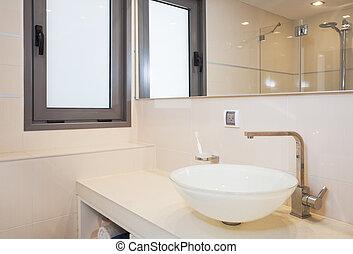 מודרני, חדר אמבטיה