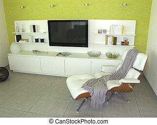 מודרני חי, חדר, -, טרקלין