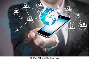 מודרני, טכנולוגיה אלחוטית, ו, סוציאלי, תקשורת