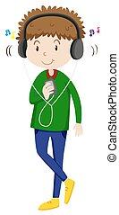 מוסיקה מקשיבה, איש