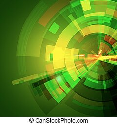 מופשט ירוק, מסובך, ככב