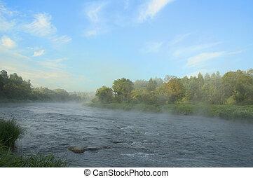 מוקדם, גדת נהר, בוקר
