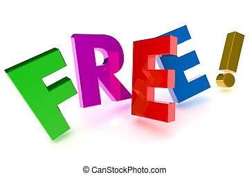 מושג, חינם