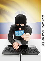 מושג, לאומי, -, דגלל, רקע, cybercrime, אקוואדור