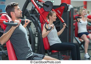 מושג, סגנון חיים, מועדון, להתאמן, בריא, כושר גופני, ספורטאיים