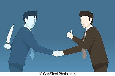 מושג, עסק, אחר, אנשים., רעיון, רע, בגוד, איש עסקים