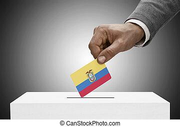 מושג, flag., -, שחור, אקוואדור, להחזיק, להצביע, זכר