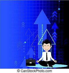 מושלם, מושג, הרהרי, עסק, לשיט, פתרון, להסתכל, חץ, איש עסקים, success.