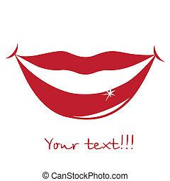 מחייך, שפתיים