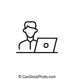מחשב נייד, איש