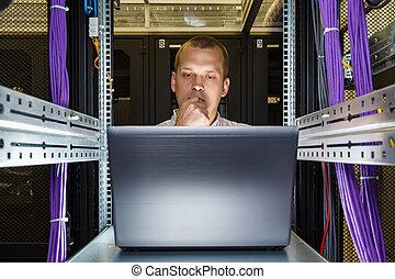 מחשב נייד, זה, לעבוד, הנדס