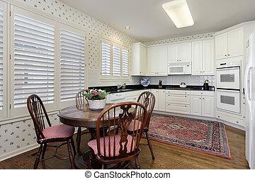 מטבח, עם, לבן, cabinetry