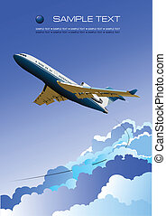 מטוס., וקטור, דוגמה