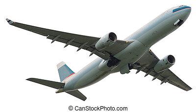 מטוס, רקע לבן