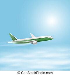 מטוס, שמיים, דוגמה