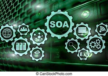 מידע, מושג, שרת, עסק, oriented, soa., אדריכלות, מתחת, encapsulation, דגמן, טכנולוגיה, עיקרון