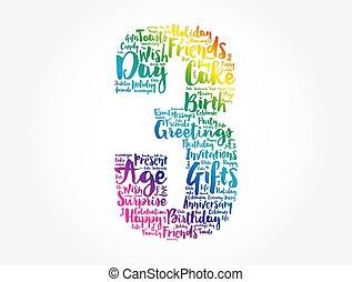 מילה, ענן, יום הולדת, שמח, *שלישי