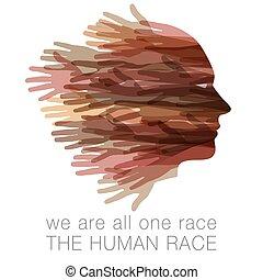 מישהו, כל, בן אנוש, race., אנחנו