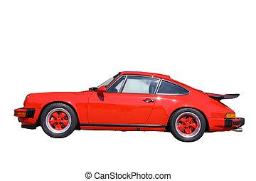 מכונית, אדום, ספורט