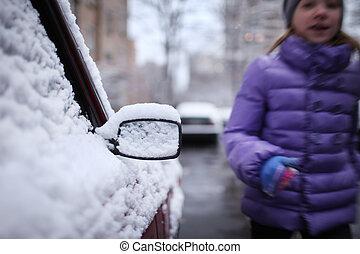 מכונית, ב, השלג