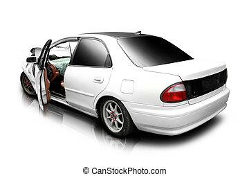 מכונית, ב, an, תאונה