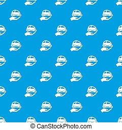 מכונית, הגנה, תבנית, seamless, כחול