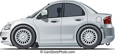מכונית, וקטור, ציור היתולי