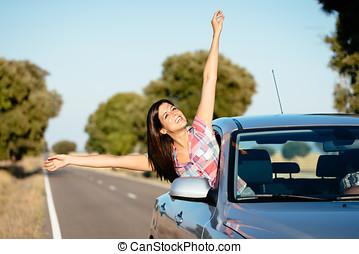 מכונית, טייל, חופש