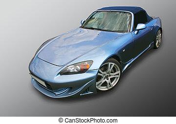 מכונית כחולה, מגורה