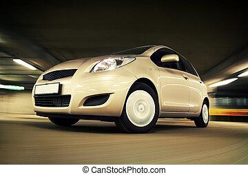 מכונית, לנהוג מהיר, ב, לחנות, דיר