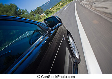מכונית, לנהוג מהיר, ב, a, דרך