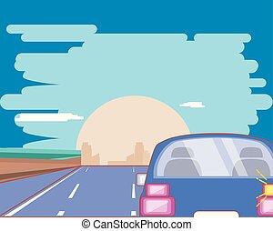 מכונית, על הדרך, עצב