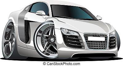 מכונית, ציור היתולי