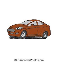 מכונית, שרבט, העבר, צייר