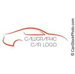 מכונית, calligraphic, לוגוים