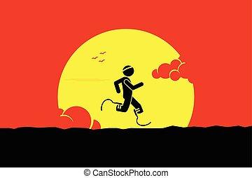 מכשול, רץ