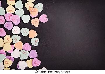 ממתק, שיחה, לבבות, ב, a, לוח לגיר