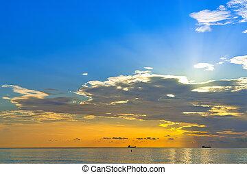 מעל, אטלנטיקה, עלית שמש, אוקינוס